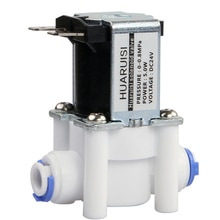 "24V pirinç alaşım solenoit valf 1/4 ""hortum bağlantısı RO ters osmoz saf sistemi RO kontrolörü elektrikli su vanası"