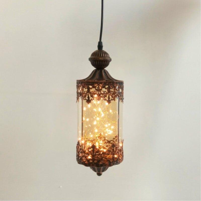 Lámpara colgante de cristal estilo conciso Retro de estilo Loft de estilo Country americano, lámpara de decoración para restaurante o cafetería, envío gratis