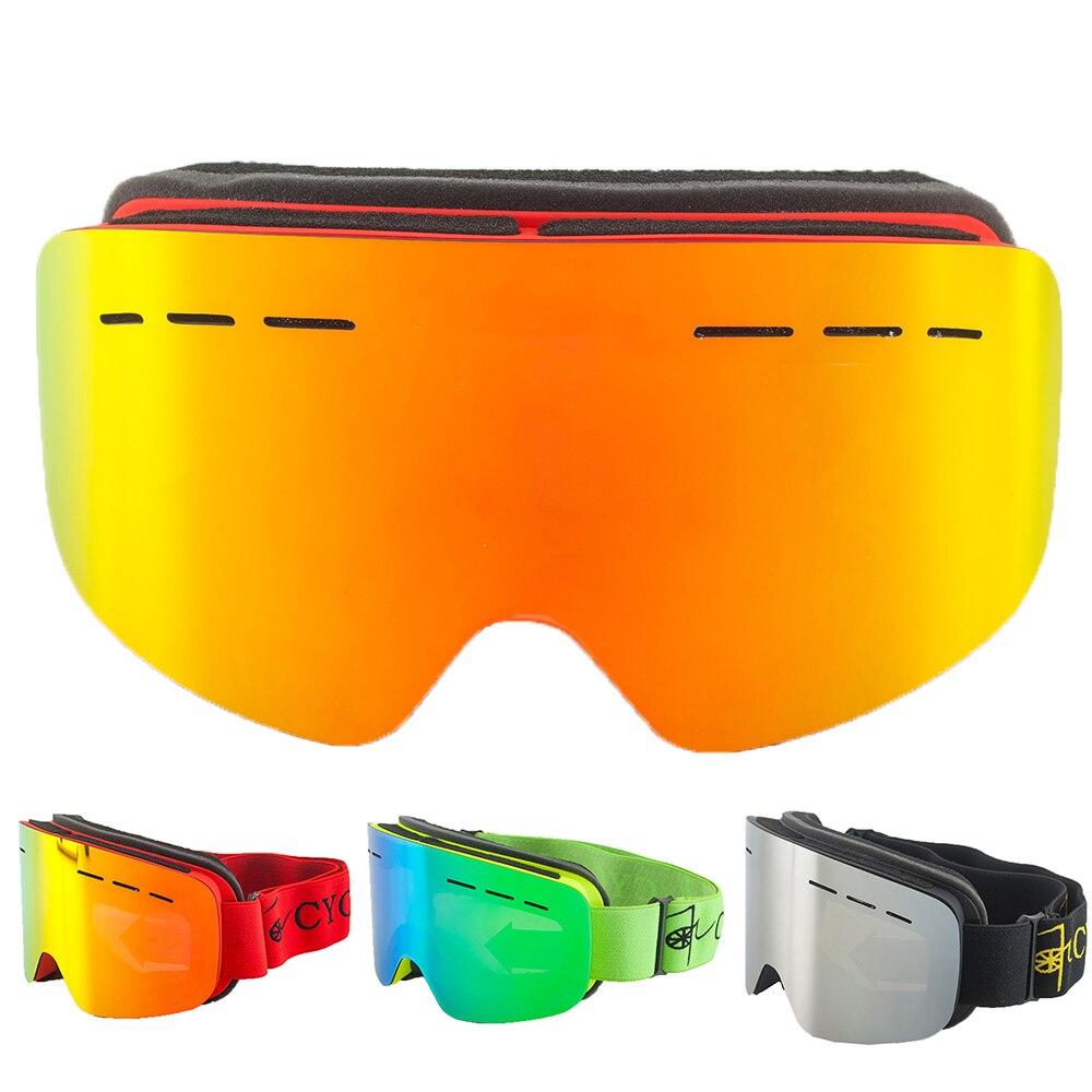 Gafas de esquí de doble lente antiniebla gafas de snowboard hombres mujeres...
