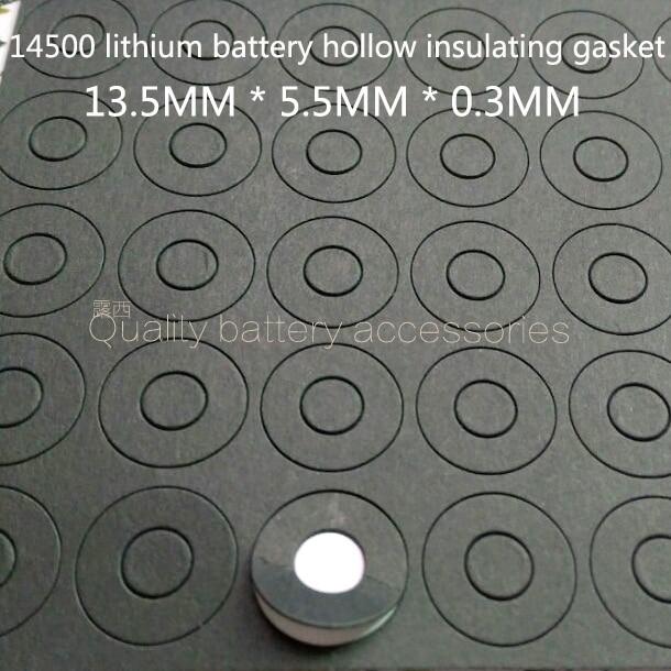 100PCS 14500 lithium battery cathode hollow sharp head insulating mat surface cushion meson 5 battery positive pole face pad