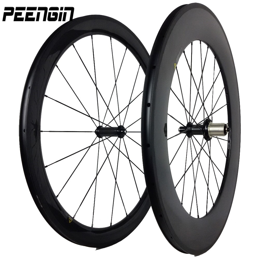 Juego de ruedas tubulares para bicicleta de carbono, 700C, 25mm de ancho,...