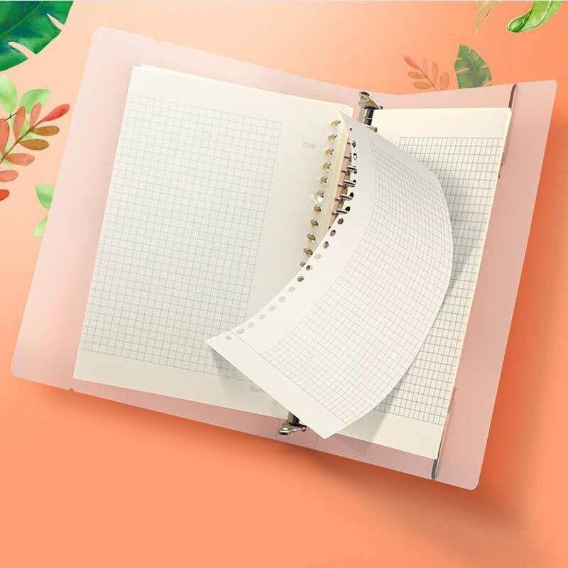 Cuaderno A5 B5 espiral con espiral para hacer cuadrícula en blanco con puntos forrados, diario, cuaderno de bocetos para útiles escolares, papelería, tienda