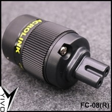 XSSH audio FC-08(R) rojo puro cobre oro rodio plateado audio video figura 8 alimentación hembra schuko IEC conector de Cable