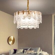 LED moderne pendentif lumières luminaire en verre laiton suspension lampe cuivre lanterne maison éclairage intérieur chambre salon Luminaria