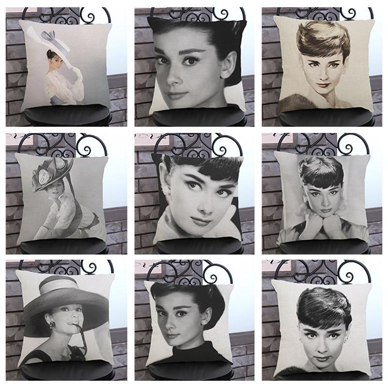 Berühmte Schauspielerin Audrey Hepburn kissenbezug Home office dekoration sofa kissenbezug