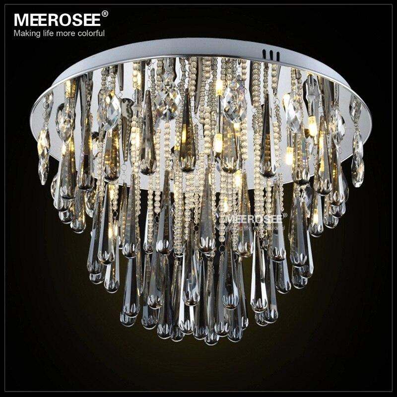 Candelabro redondo de cristal, accesorio de luz G4, Lustres empotrados, candelabro de...