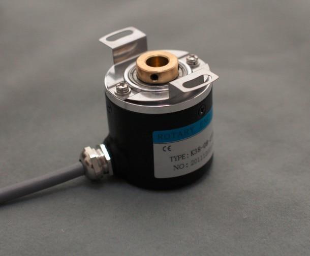 جهاز تشفير دوار كهروضوئي بعمود مجوف ZKP3808 2000 نبضة 2000 خط ABZ ثلاثي الأطوار 5-24 فولت
