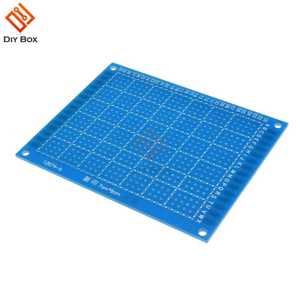 Un solo lado PCB prototipo en conserva Universal Placa de 7cm x 9cm 70mm x 90mm FR4