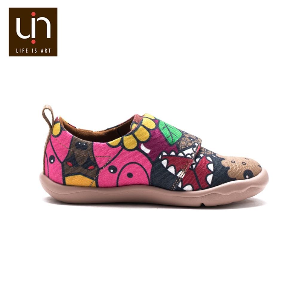 UIN ColaCola Design Hand-painted Little Kids Casual Shoes Easy Hook & Loop Lightweight Sneaker Children Comfort Shoes Girls/Boys enlarge