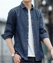 New Men's denim Autumn Spring button Jackets Men's top Coats Fashion Slim Casual clothes Male Outerwear plus size 4XL