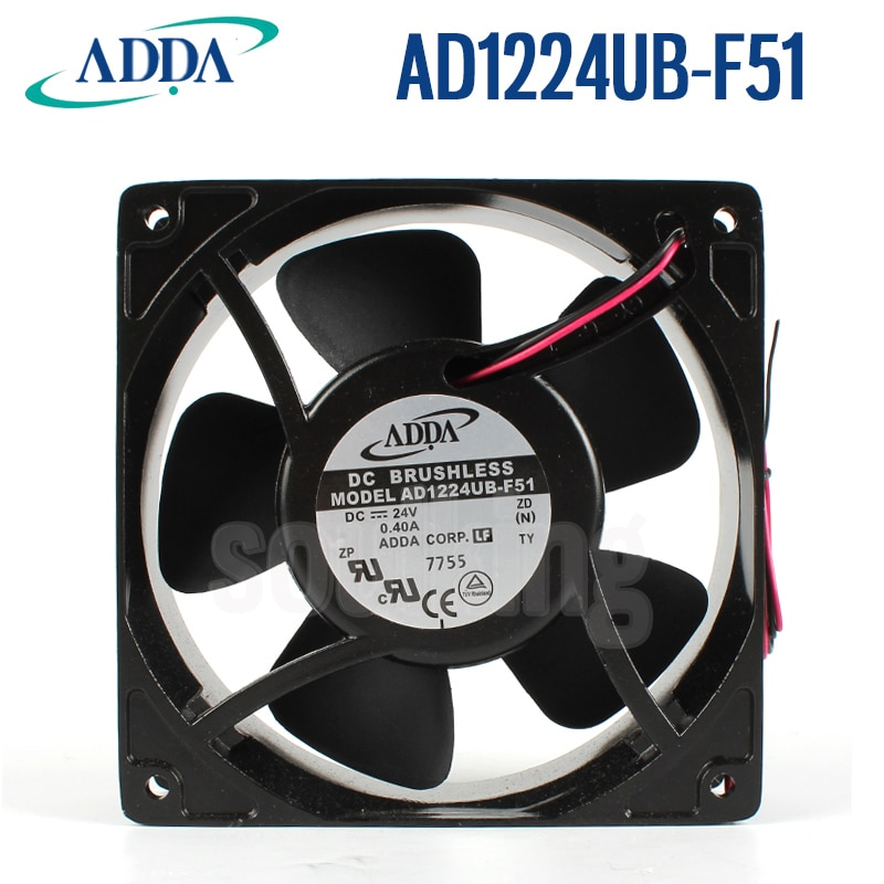 جديد ADDA AD1224UB-F51 12038 24 فولت 0.40A تردد مروحة التبريد