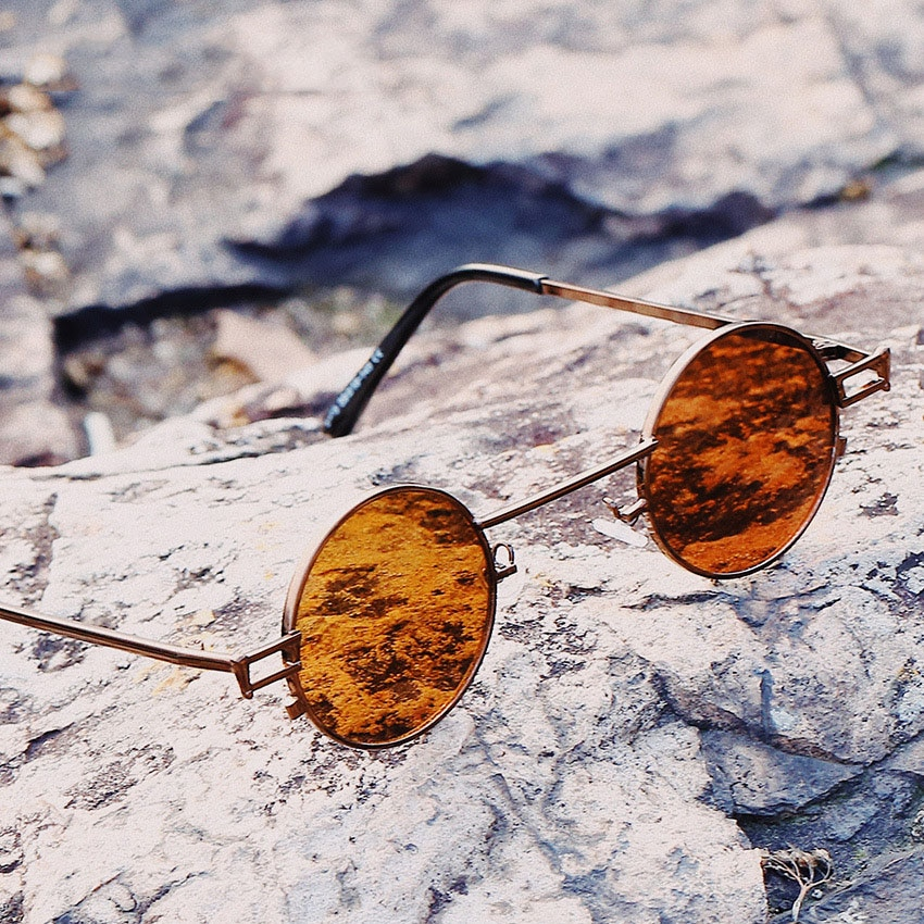 Black Small Round Sunglasses For Women Mirror 2019 Red Luxury Men Brand Designer Eyewear Shades Ladies Alloy Sun Glasses UV400