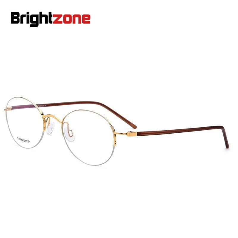 برايتزون خمر النقي IP بالكهرباء نصف بدون إطار ممتاز البيضاوي نظارات إطار مستدير نظارات إطارات Oculos دي غراو Gafas
