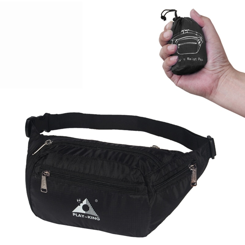 1 Uds. Riñonera para correr deportes al aire libre bolsillos impermeable plegable bolsa del teléfono móvil cinturones ajustables bolsas para correr