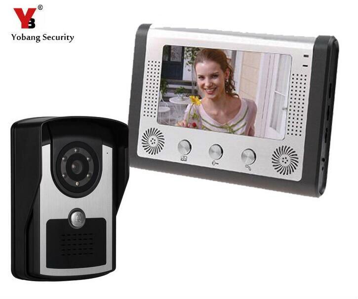 Videoportero DE SEGURIDAD Yobang, Kit de Monitor de cámara IR resistente al agua para la seguridad del hogar, 12 tipos de timbre de puerta