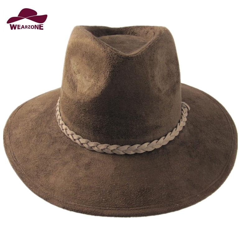 2016 new fashion Suede felt hats Classic fedora Jazz Bullfighting hat church hats woman toca masculina hat simple maison michel
