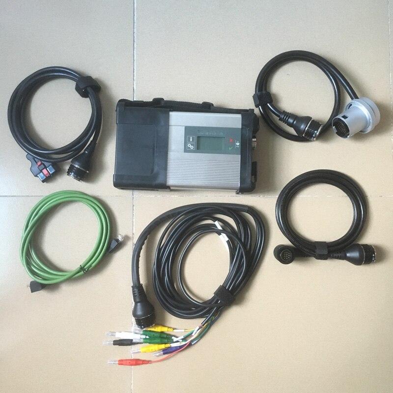 Super STAR MB C5 MB SD Conectar Compacto 5 Ferramenta de Diagnóstico com WI-FI Função Sem software MB SD C5 completo conjunto de cabos DHL Livre