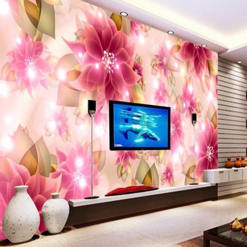Beibehang, tamaño personalizado, mural de alta velocidad HD, papel tapiz 3d, papel de pared rosa, papel de pared, papel de pared adhesivo