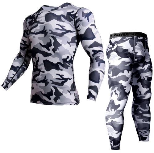 Men S-3XL  long johns Thermal Underwear set Shirt Male Leggings 2 piece in set