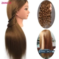 26 long blonde hair manequin head 85 real hair professional for curl iron straighten practise hairstyle nice cabeza maniqui