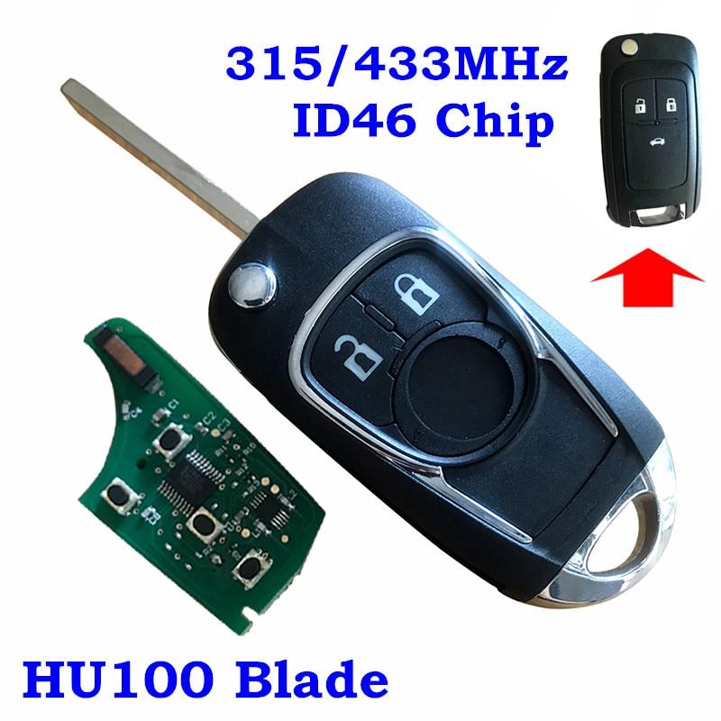 Uncut flip chave de partida remoto keyless entrada transmissor fob 2 3 btn para oht01060512 chevy chevrolet buick carro flip remoto chave fob