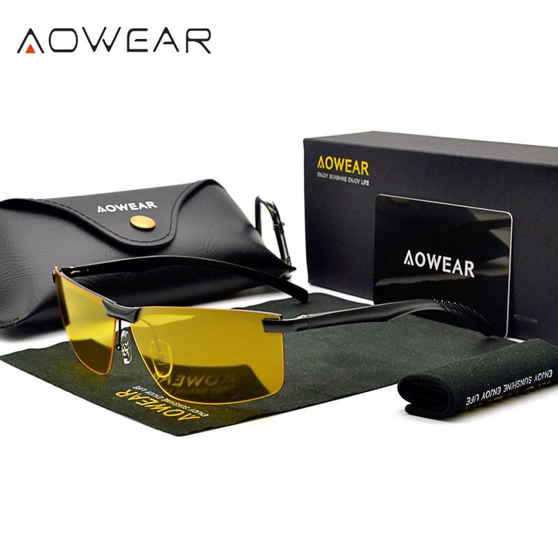 Men's Night Vision Goggles Glasses HD Sight Night Driving Glasses Men Polarized Yellow Sunglasses fo