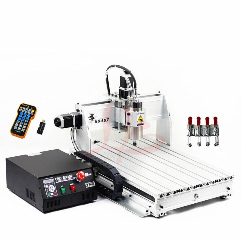 1500W CNC 6040Z husillo yocnc Router Metal grabado bola tornillo de perforación máquina de corte con ER11 Collet