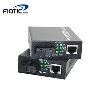 1 pair gigabit fibra optical to rj45 1000mbps media converter singlemode fiber to ethernet switch single fiber transceiver