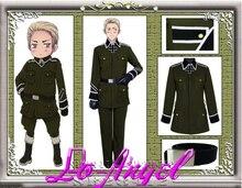 Anime axe puissances Hetalia allemagne uniforme militaire Cosplay Costume taille personnalisée
