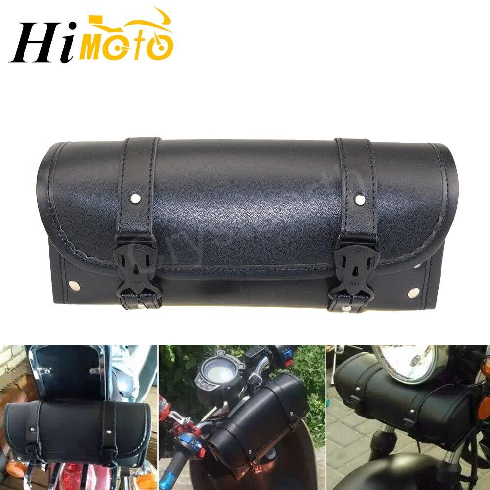 Universal Motorrad PU Leder Sattel Sattel Tasche Gepäck Tasche Werkzeug Tasche Für Harley Cafe Racer Bobber Chopper Cruiser Custom