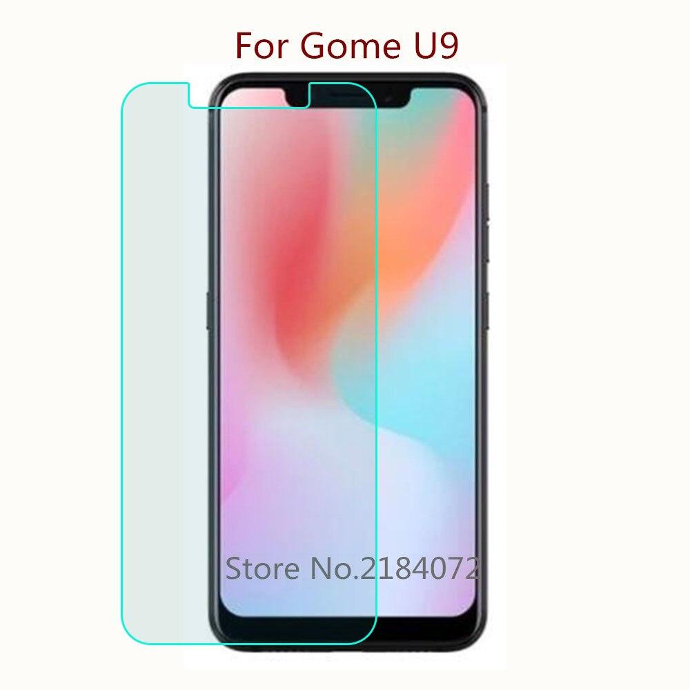 9 h 2.5d protetor de tela de vidro para telefone gome u9 vidro temperado smartphone filme frontal tela protetora
