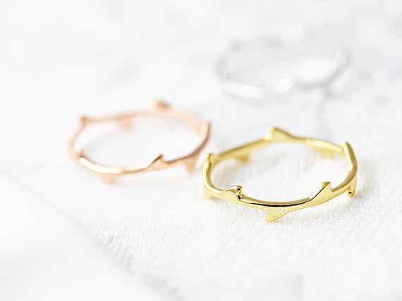 Nueva moda anillo rama hoja oro plateado joyería regalo idea Kuckle anillo para mujer amor regalo