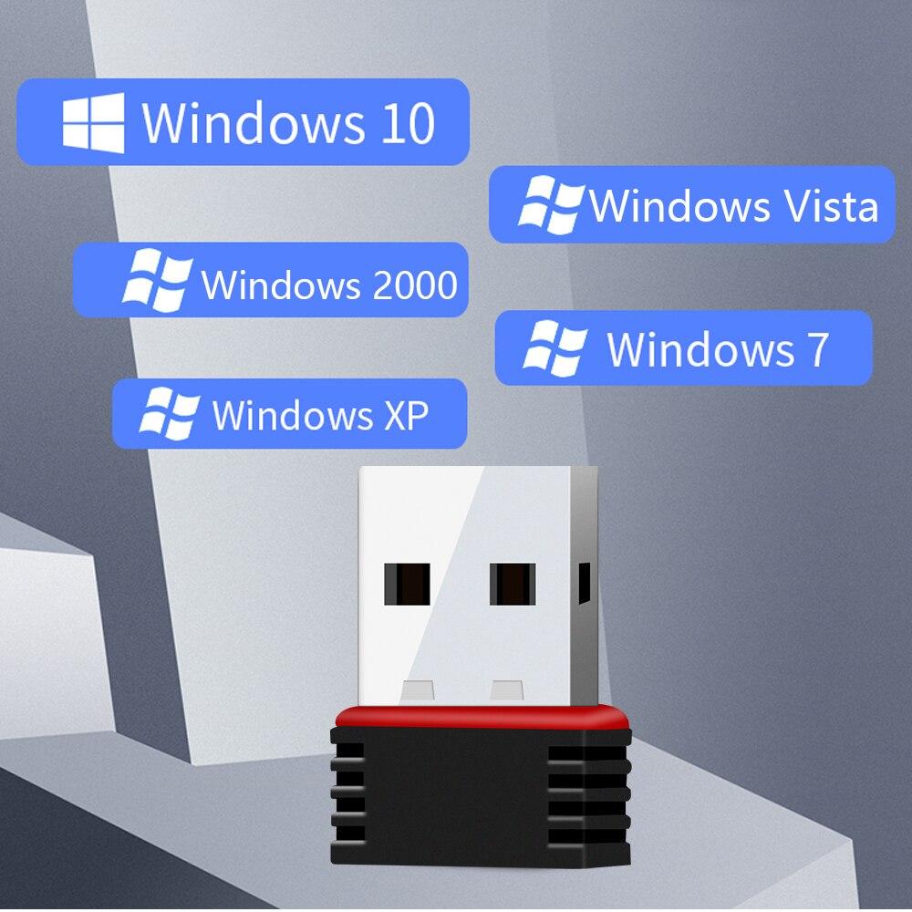 Мини 802.11n/g/b Wifi 2,4 ГГц ~ 2,4835 ГГц беспроводной сетевой адаптер 150 Мбит/с USB ключ для ноутбука ПК Windows 7/10/xp/ Vista/2000