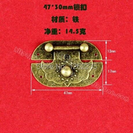 Die neue 4,7*3 cm antique box lock schnalle Chinesische alte kleine messing sperren vorhängeschloss antiken lock