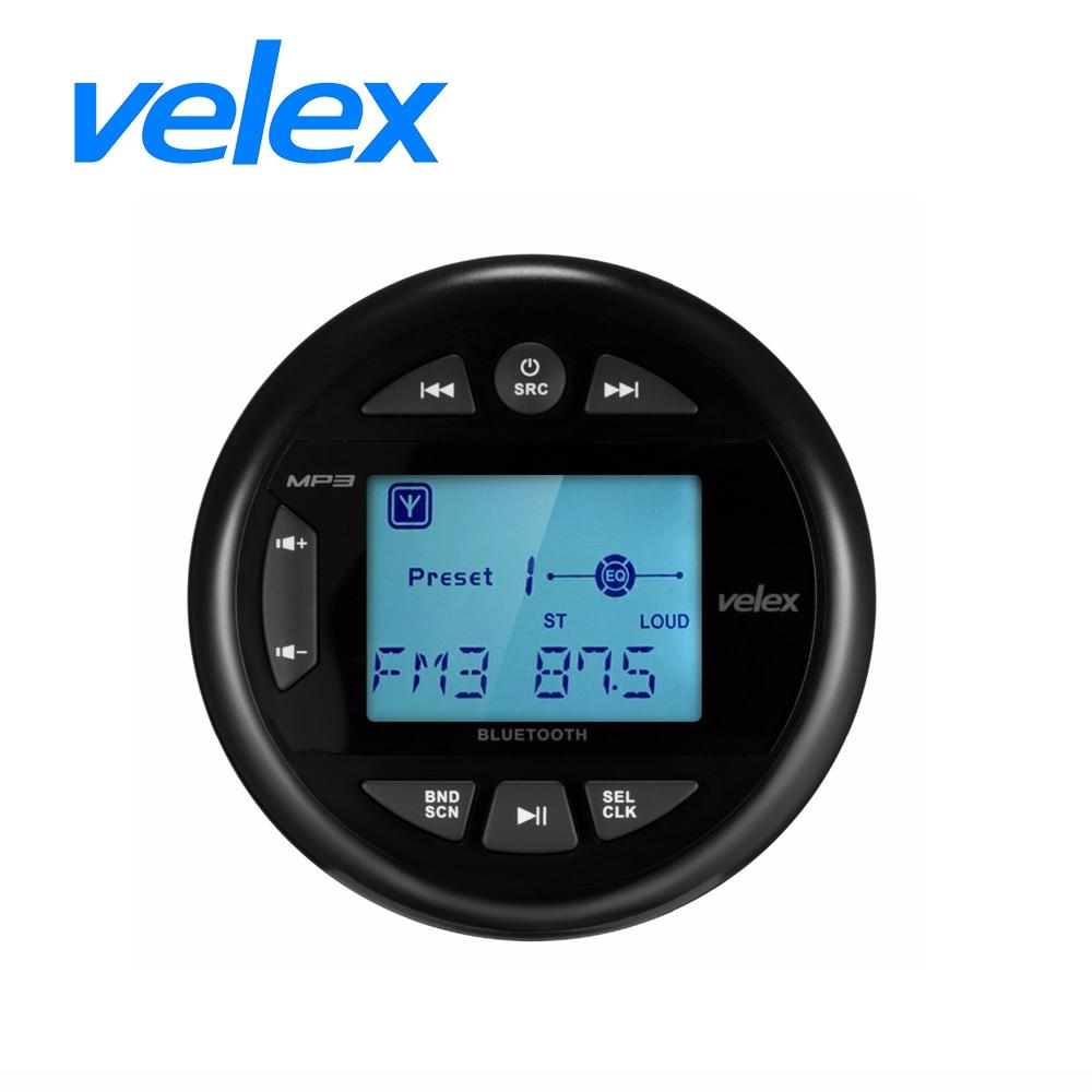 جهاز استقبال الوسائط الرقمية البحرية بتقنية البلوتوث ، جهاز صوت ستيريو مقاوم للماء مع مشغل MP3 وراديو AM FM و USB لبث الموسيقى على القوارب والجولف