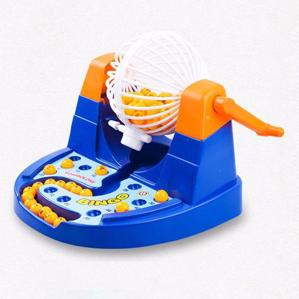 Mini Party Game Lottery Lucky Balls Bingo Game Machine Set Family Desktop Board Games Educational Toys Gift for Children Kids