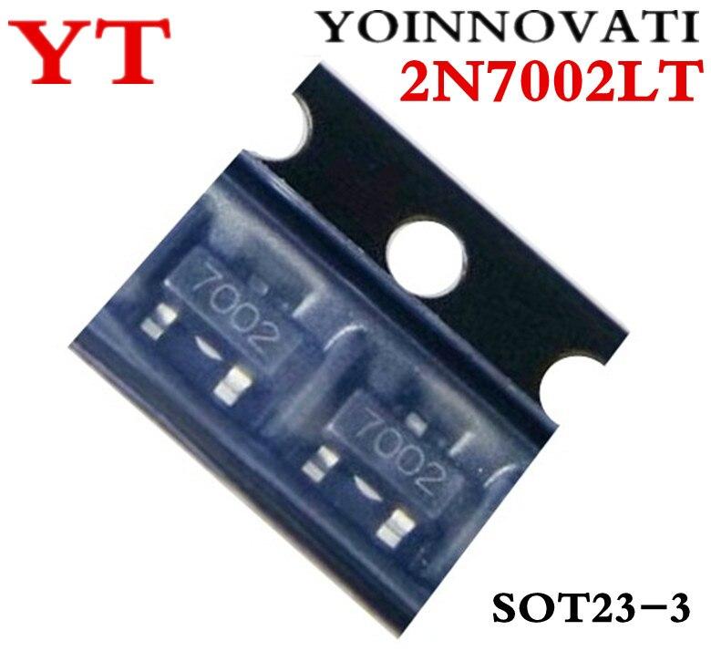 100 шт./лот 2N7002LT 2N7002 7002 N-Channel MOSFET N-CH SOT23 лучшее качество.