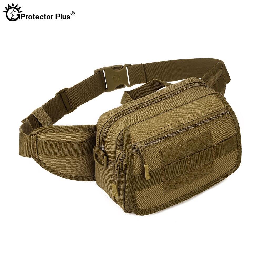 Protetor mais militar tático molle cintura sacos multifunction camo 6 polegadas telefone mensageiro ombro esportes ao ar livre crossbody