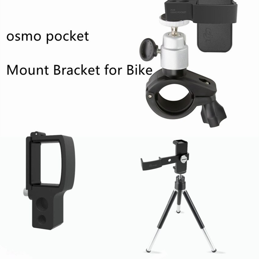 Montaje multifuncional de aleación de aluminio adaptador de extensión de trípode para bicicleta DJI Osmo Pocket handheld MiNi camera Handle Gimbal