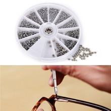 Kit di riparazione di dadi in acciaio inossidabile, Kit di riparazione di parti di ricambio per orologi da vista