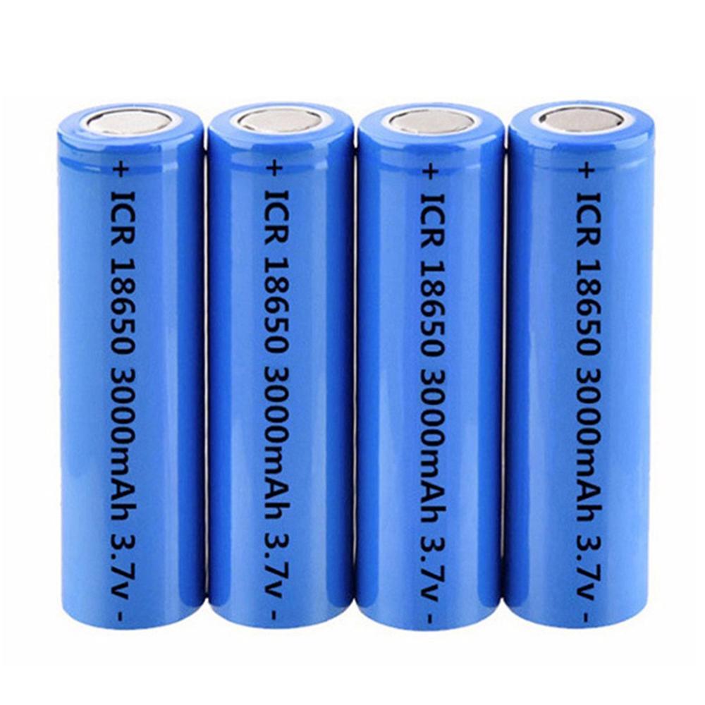 ICR18650 3.7V 3000mAh Li ion Lithium rechargeable battery 18650 for Flashlight Headlight Torch Power Tools Battery DIY Powerbank