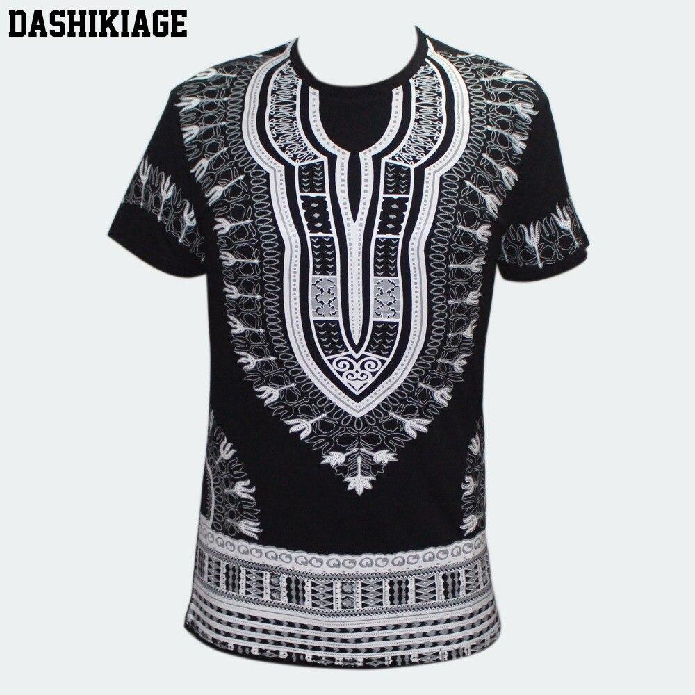 Camiseta africano do dashiki dos homens unissex dahikiage boho hippie kaftan tribal festiva cigano étnico superior tradicional blusa