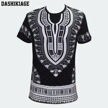 Dashikiage unisexe femmes hommes africain Dashiki T-shirt Boho Hippie caftan festif Tribal gitane ethnique haut traditionnel Blouse