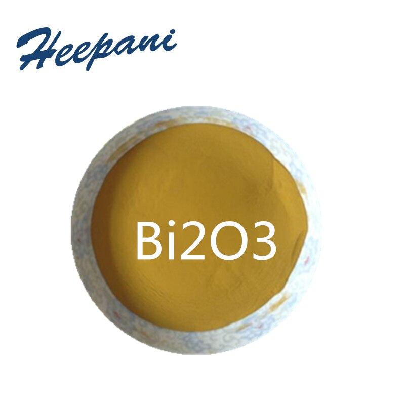 Polvo de trióxido de bismuto de nanopartículas de pureza del 99.9% con envío gratis, polvo de óxido de bismuto amarillo de 50nm Bi2O3 para componentes electrónicos