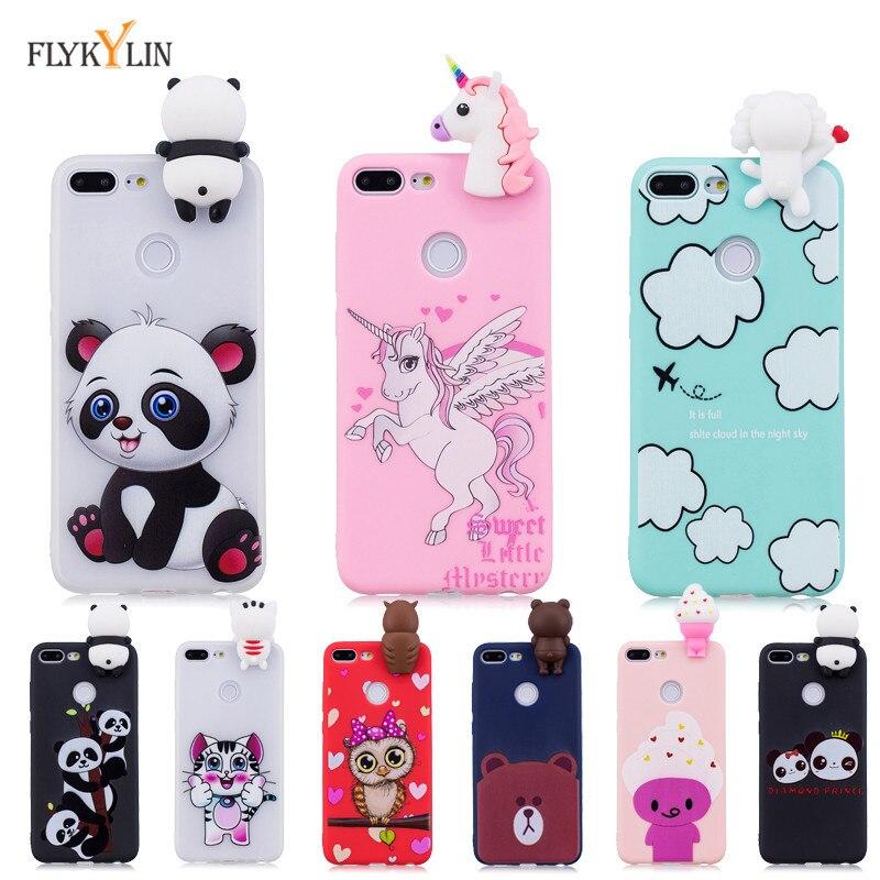 Silikon Fall auf Für Coque Huawei Honor 9 Lite Fall Zurück Abdeckung Für Etui Huawei Honor 10 Lite 3D Einhorn panda Weiche Telefon Fällen