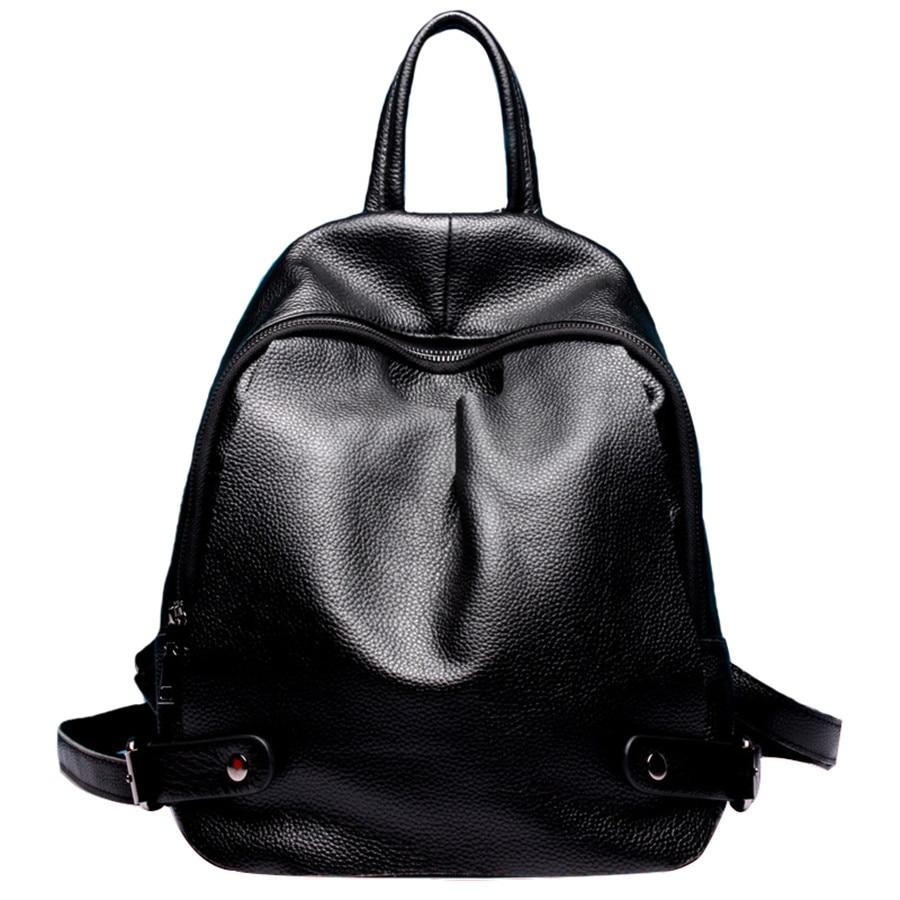 Genuine leather backpack women bags fashion Girls School Bags Multifunctional shoulder bag Zipper bolsa mochila feminina bagpack