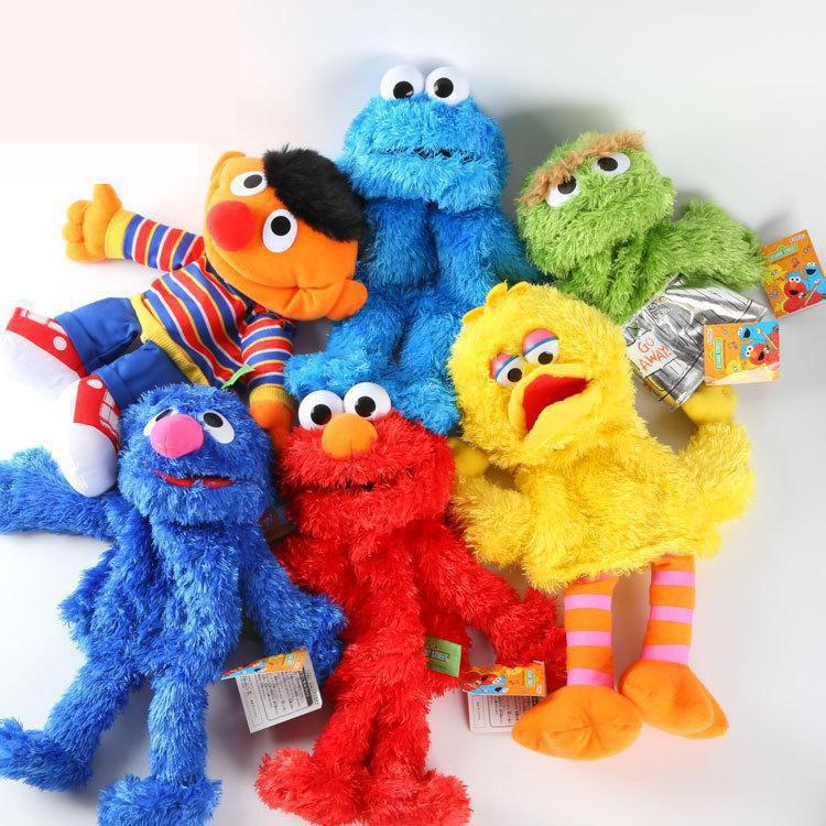 Мягкие игрушки в стиле аниме «Улица Сезам», 30 см, Elmo Big VID Cokkie Monster, для маленьких девочек, подарок для детей