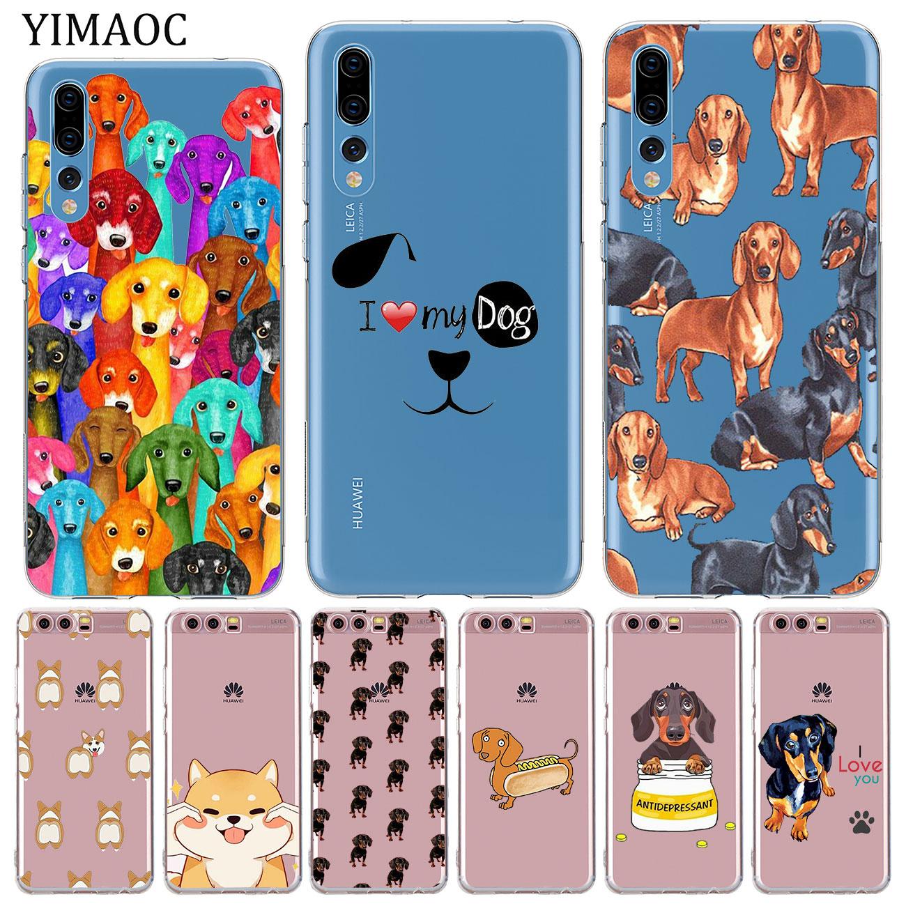 YIMAOC Dachshund cute dog Soft Silicone tpu Phone Case for Huawei Mate 30 20 Pro 10 Lite Nova 5I 4 3