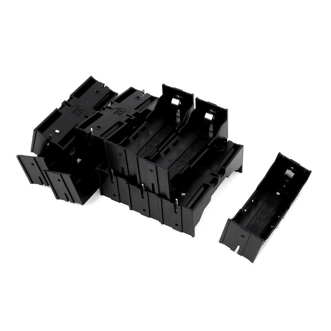 EDT-Plastic Single 26650 Battery Holder Case Storage Box 10Pcs Black