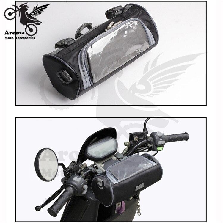 Piezas universales impermeables scooter teléfono pantalla táctil equipaje bolsa moto manillar moto rbike cabeza bolsas moto rcycle Accesorios